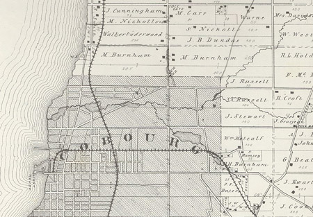 map 1878 cobourg
